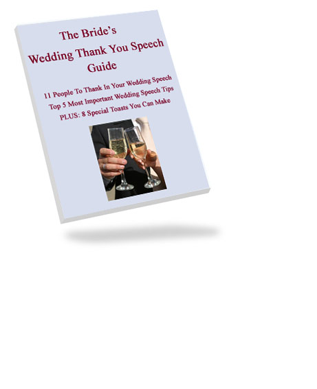 bride wedding speech